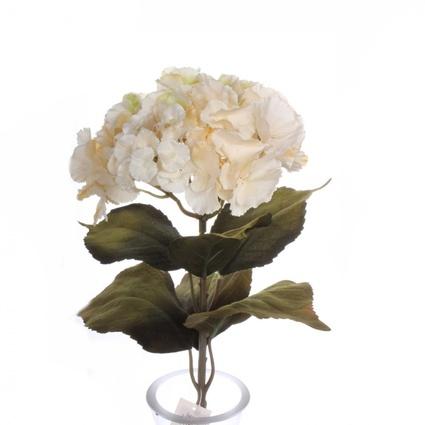 Yedifil Ortanca Krem Yapay Çiçek 70 Cm
