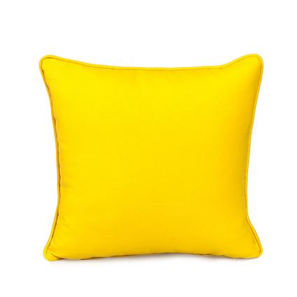 Altıncı Cadde Düz Koton Sarı Yastık