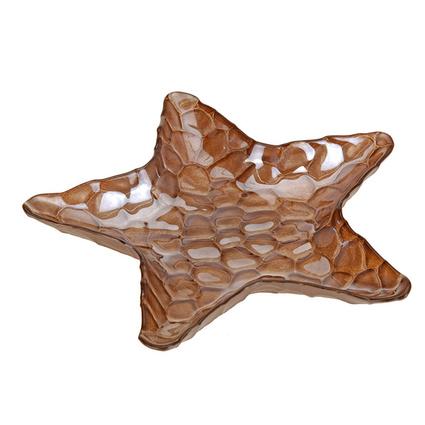 Altıncı Cadde Deniz Yıldızı Tabak Kahverengi 18,5cm