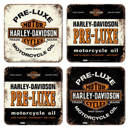 Nostalgic Art 4lü Harley Davidson Bardak Altlığı