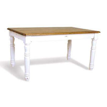 Woodenbend Tiffany Eskitilmiş Masa Beyaz