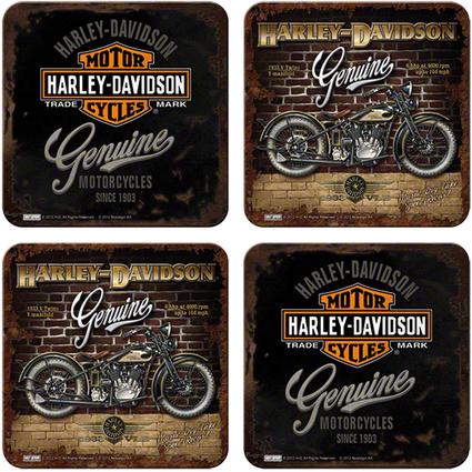 Nostalgic Art 4lü Bardak Altlığı Harley Davidson Genuine