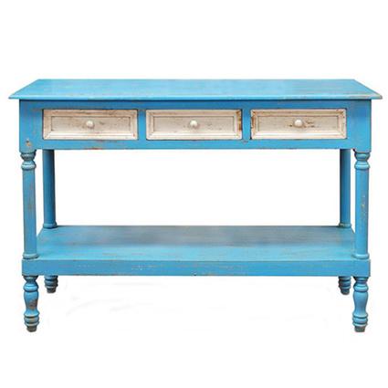 Albero Home Tornalı Konsol Mavi