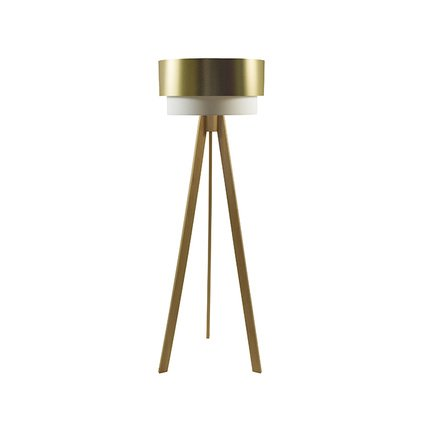 Crea Lighting Doubleshade Tripod Lambader PVC Gold