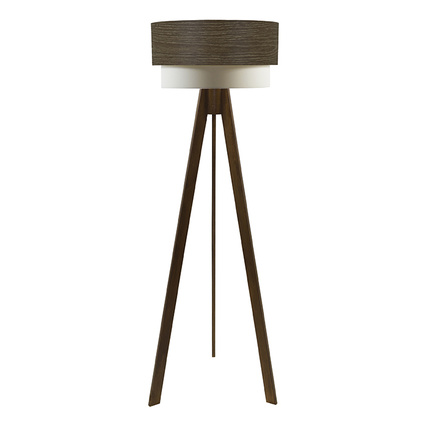 Crea Lighting Doubleshade Tripod Lambader Wood Natural Alpi