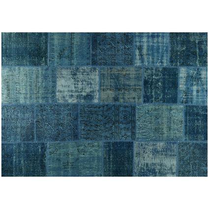 MarkaEv Patchwork Halı Mavi 160x230 Cm