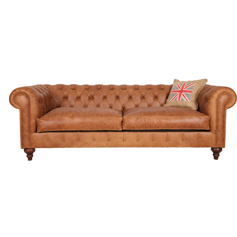 3A Mobilya Old English Leather Chesterfield Ürün Resmi