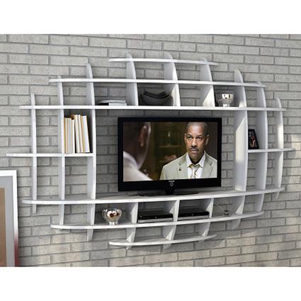 Sanal Mobilya Tv Duvar Ünitesi&Kitaplık Beyaz