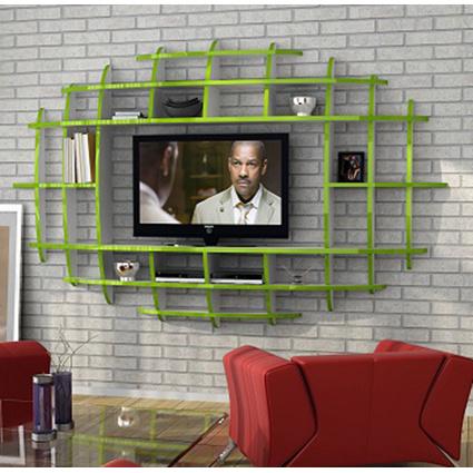 Sanal Mobilya Elips Tv Duvar Ünitesi&Kitaplık
