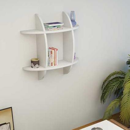 Sanal Mobilya Elips Mini Modern Kitaplık Beyaz