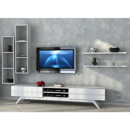 Sanal Mobilya Rüya Tv Ünitesi Beyaz