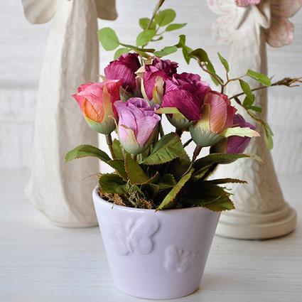 Mia Fiorina Çiçek Kelebek Lila