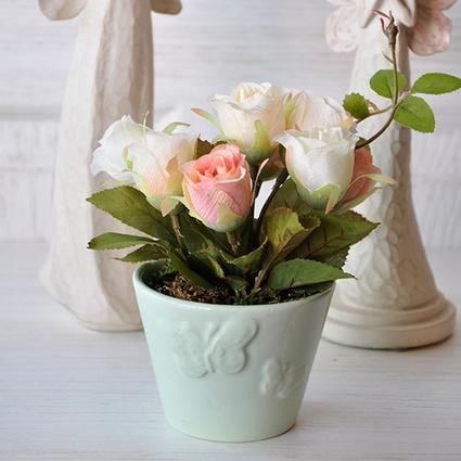 Mia Fiorina Çiçek Kelebek Yeşil