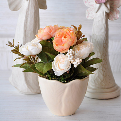 Mia Fiorina Çiçek Yaprak Krem