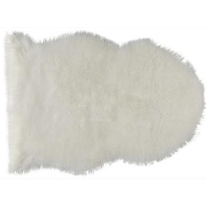 MarkaEv Beyaz Post Peluş 75x100 Cm