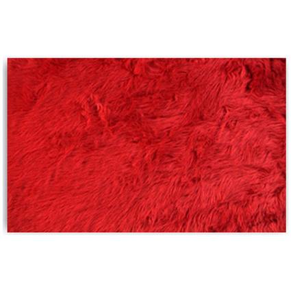 MarkaEv Kırmızı Peluş Post 145x200 Cm