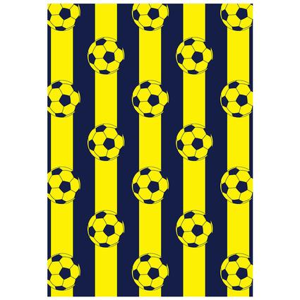 MarkaEv Dkids Taraftar Sarı Lacivert 100x140 Cm