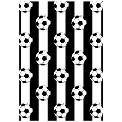 MarkaEv Dkids Taraftar Siyah Beyaz 100x140cm