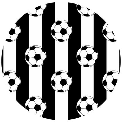 MarkaEv Dkids Taraftar Siyah Beyaz 140x140cm