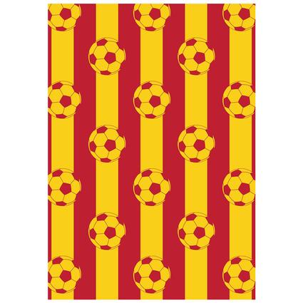 MarkaEv Dkids Taraftar Sarı Kırmızı 100x140cm