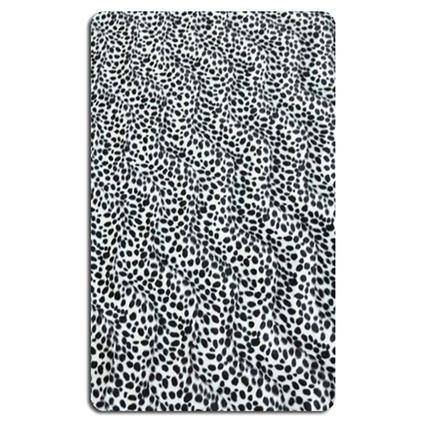 MarkaEv Zebra Banyo Halısı Siyah & Beyaz
