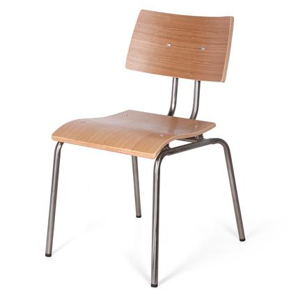Altıncı Cadde Metal Sandalye Naturel 42x81Cm