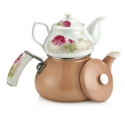 Schafer Teerose Porselen Çaydanlık 25863