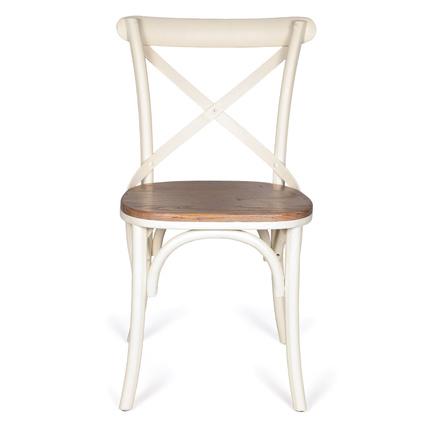 Altıncı Cadde Ahşap Sandalye Beyaz Renk