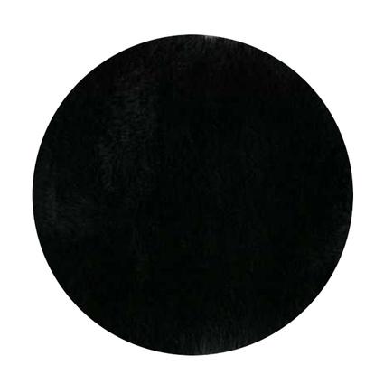 MarkaEv Siyah Post Peluş Yuvarlak 145x145 Cm