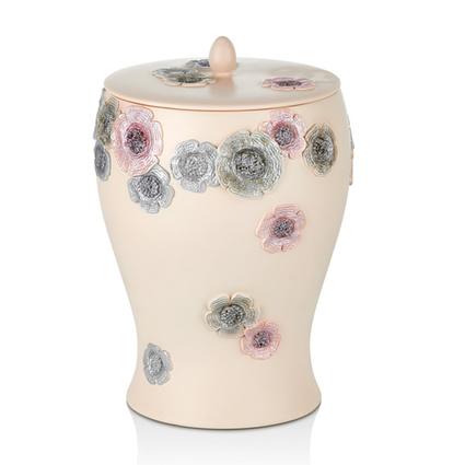 Cemile Çiçek İşlemeli Çöp Kovası