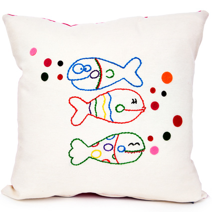 Baharın Renkleri Şaşkın Balıklar Yastık