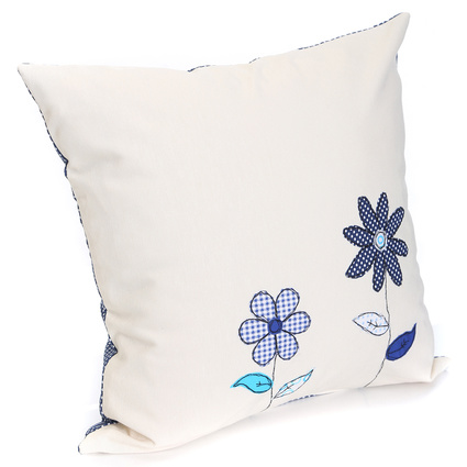 Baharın Renkleri Mavi Çiçekli Yastık
