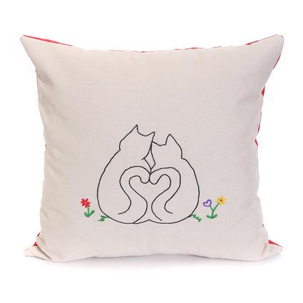 Baharın Renkleri Aşk Kedileri Yastık