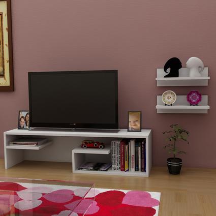 Sanal Mobilya Pascal Tv Sehpası&Raf Seti