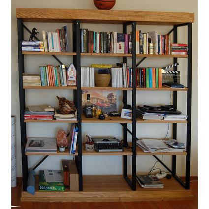 Ağaç Ustası Düz Loft Kitaplık