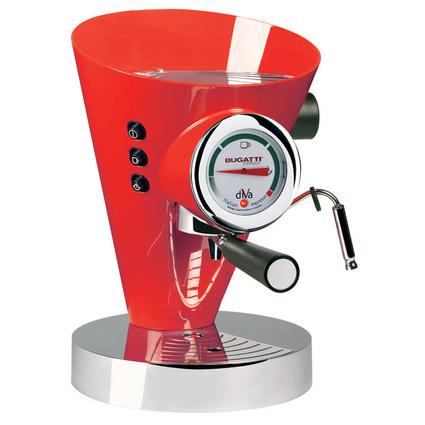 Bugatti Diva Sıcak Kırmızı Kahve Makinesi