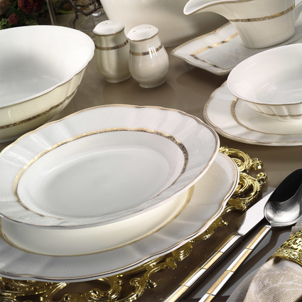 Kütahya Porselen Mitterteich Romans 84 Parça 50113 Desenli Yemek Takımı