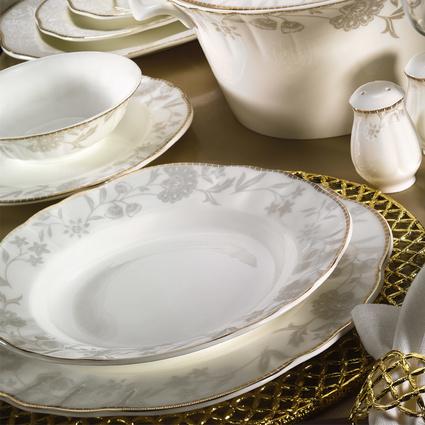Kütahya Porselen Mitterteich Romans 84 Parça 50115 Desenli Yemek Takımı