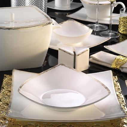 Kütahya Porselen Phaselis 83 Parça 65125 Desenli Yemek Takımı