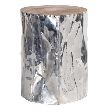 Altıncı Cadde Yüz Formlu Alüminyum Tabure 35x45Cm