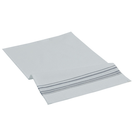Hamam Meyzer Washcloth Beyaz-Koyu Gri 30x40 cm