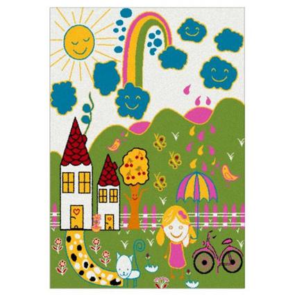 Festival Gülbeşeker Çocuk Halısı 7841A Yeşil - (133x190 cm)