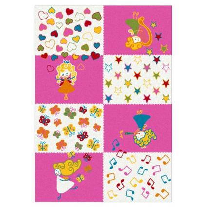 Festival Gülbeşeker Çocuk Halısı 7840A Pembe - (133x190 cm)
