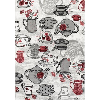 Festival Milas Neva Mutfak Desen Halı 9862B-Kırmızı - (100x300 cm)