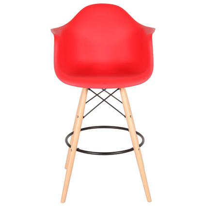 Altıncı Cadde Nancy Kırmızı Bar Sandalyesi
