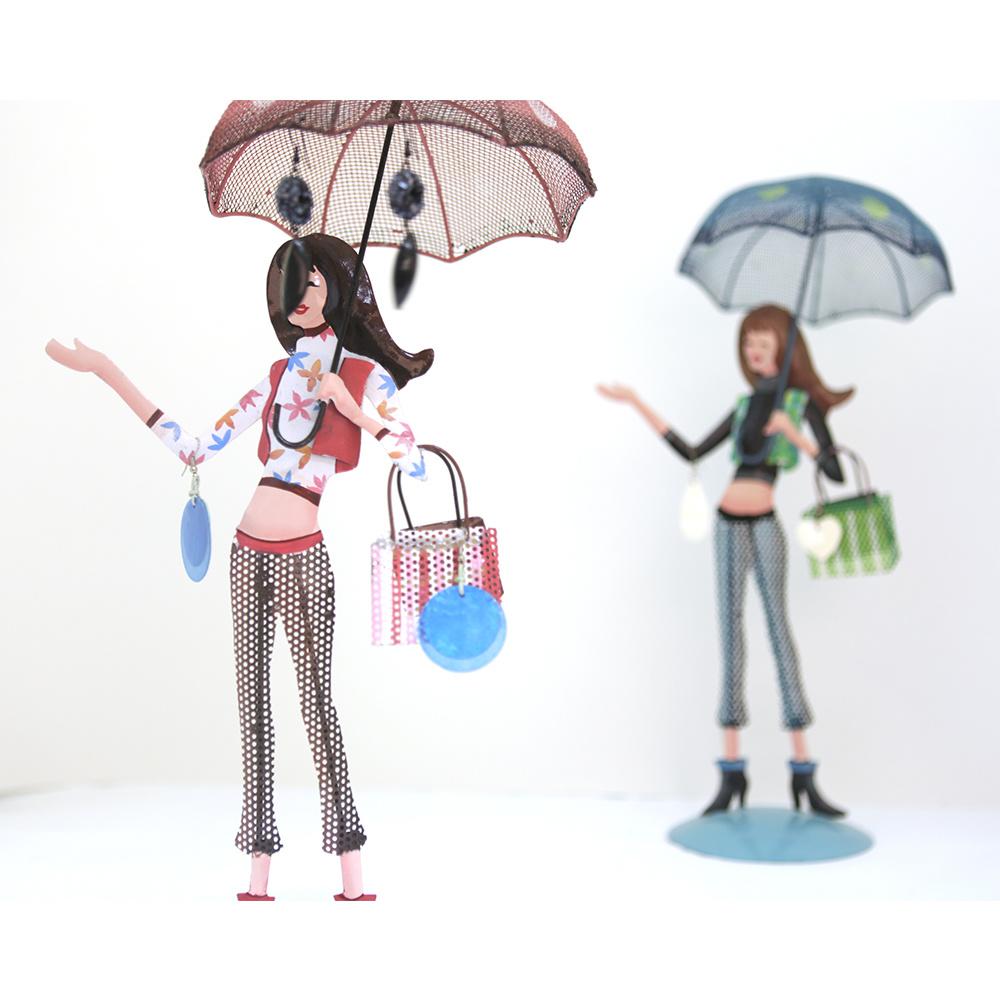 Kancaev Takılık Pembe Şemsiyeli Genç Kız Ürün Resmi
