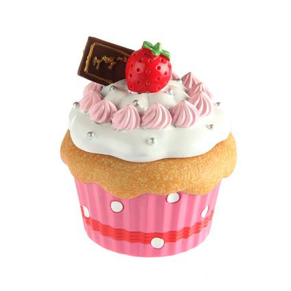Kancaev Koyu Pembe Mini Kutu Cup Cake Beyaz Kremalı-Çilekli