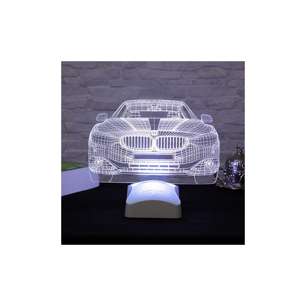 Dekorjinal 3 Boyutlu Bmw Araba Lamba 24x19cm Ürün Resmi