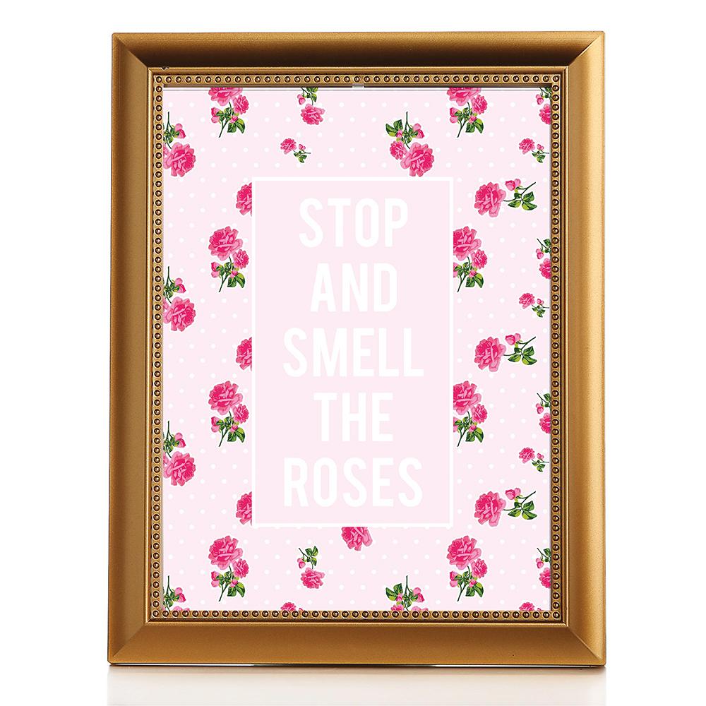 Design Markett Pink Stopandsemll Çerçeveli Poster Ürün Resmi
