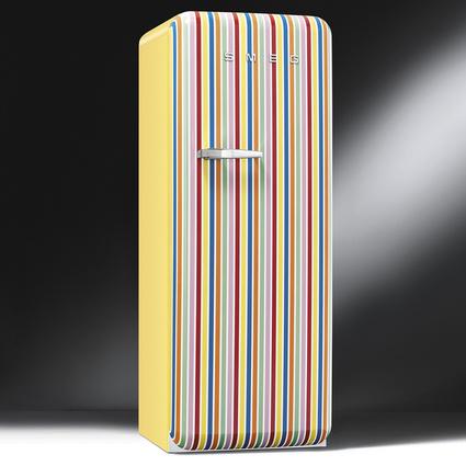 Smeg FAB28RCS1 Retro Buzdolabı Çizgili Özel Koleksiyon A++